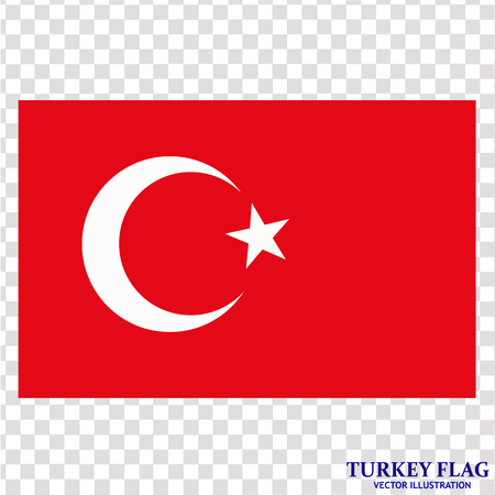 Bright background with flag of Turkey. Happy Turkey day background. Bright button with flag. Vector illustration with transparent background.