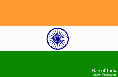Bright background with flag of India. Happy India day background. Bright illustration with flag .