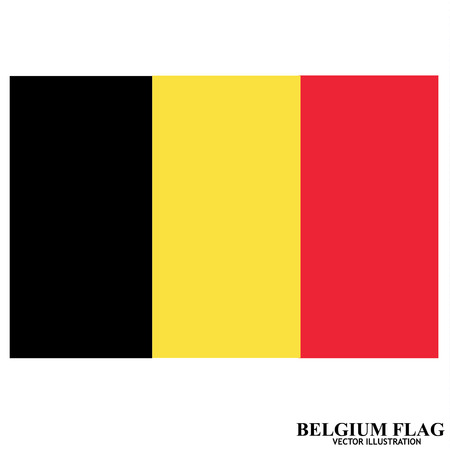 Flag of Belgium. Illustration. 向量圖像