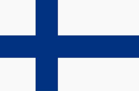 Flag of Finland. Illustration.