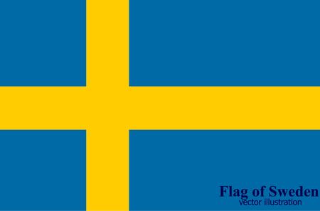 Flag of Sweden. Illustration. Illustration