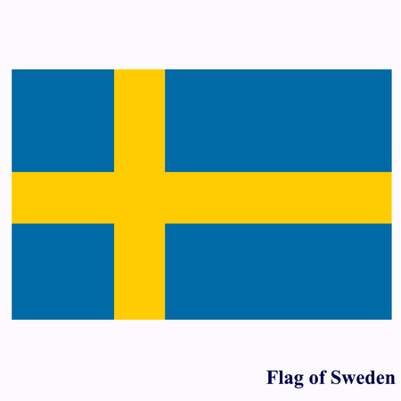 Flag of Sweden. Illustration. Stock Photo