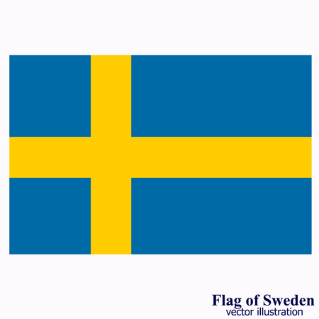 Flag of Sweden. Illustration.