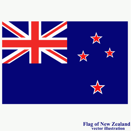 Banner with flag of New Zealand. Vector.