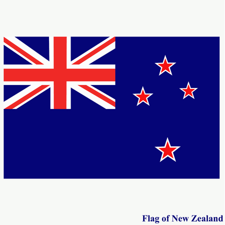 Banner with flag of New Zealand.