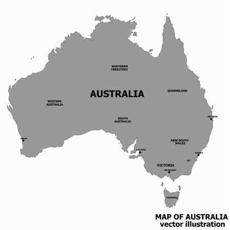 Map of Australia with flag. Australian infographic.
