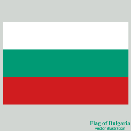 Bright background with flag of Bulgaria . Happy Bulgaria day background. Bright button with flag. Vector illustration with transparent background.