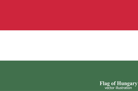 Bright background with flag of Hungary. Happy Hungary day background. Bright button with flag. 向量圖像