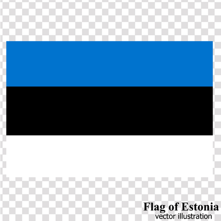 Banner with flag of Estonia. Vector.