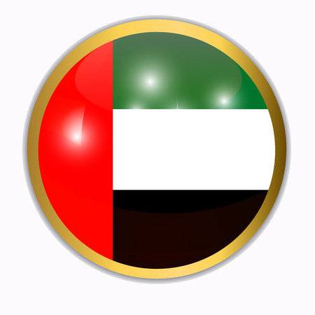 Button with flag of Arab Emirates.
