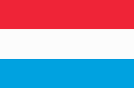 Banner with flag of Luxembourg. Banco de Imagens