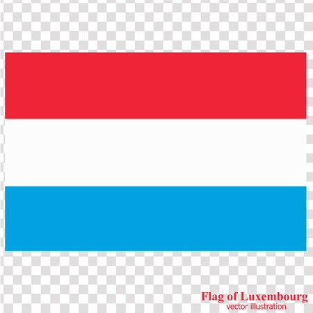 Banner with flag of Luxembourg. Vector.