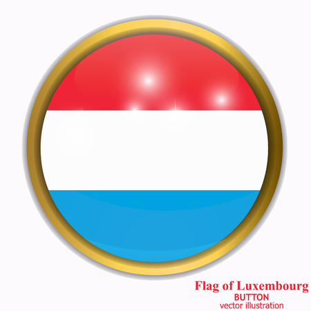 Banner with flag of Luxembourg. Stock Photo