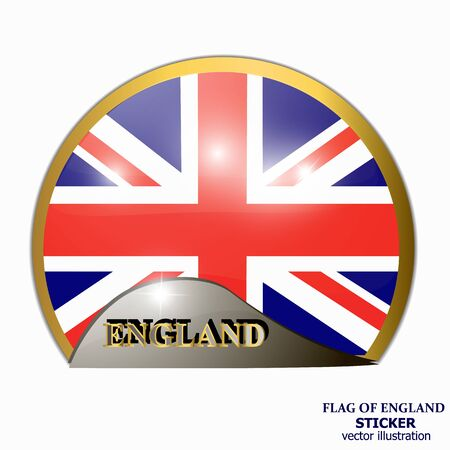 Sticker with flag of England. Happy England day background.