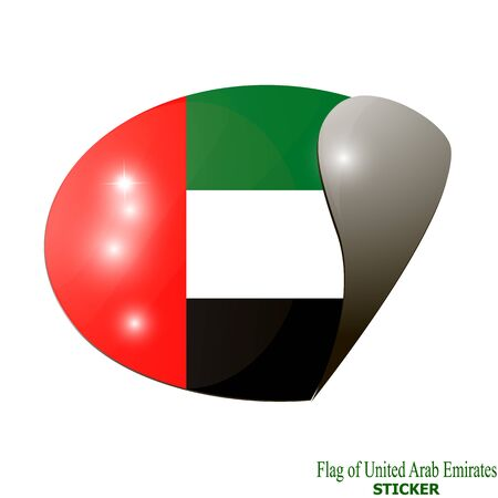 Sticker with flag of Arab Emirates.