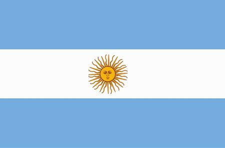 Banner with flag of Argentina.