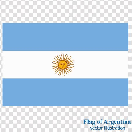 Banner with flag of Argentina. Vector.