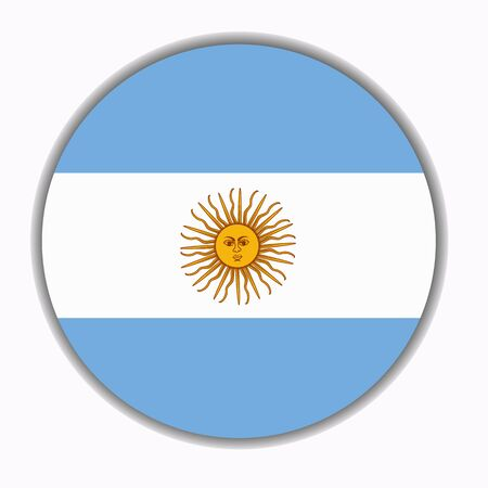 Button with flag of Argentina.
