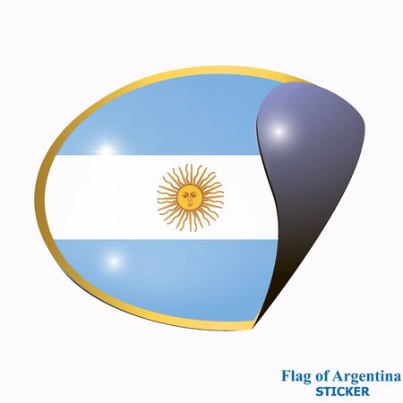 Sticker with flag of Argentina.