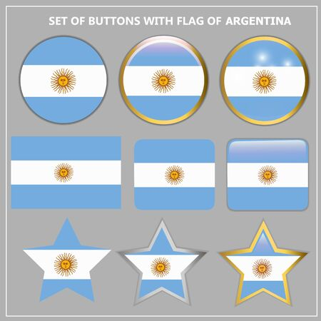 Banners with flag of Argentina. Illustration.