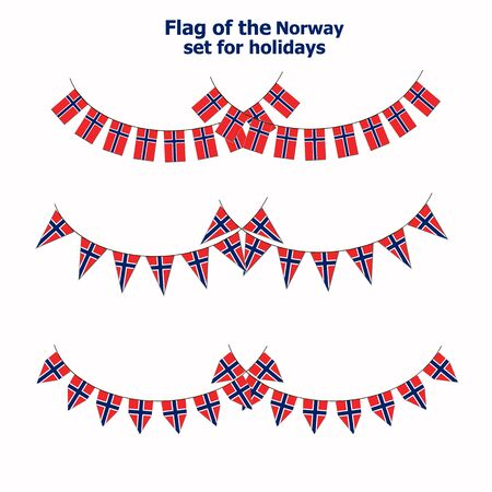 Set with flags of Norway.
