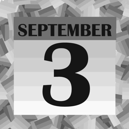 September 3 icon. For planning important day. Banner for holidays and special days. Stock fotó