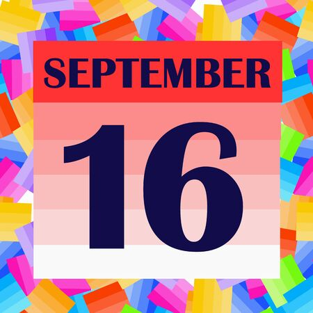 September 16 icon. For planning important day. Banner for holidays and special days.