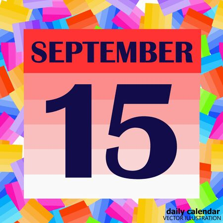 September 15 icon. For planning important day. Banner for holidays and special days. Illustration