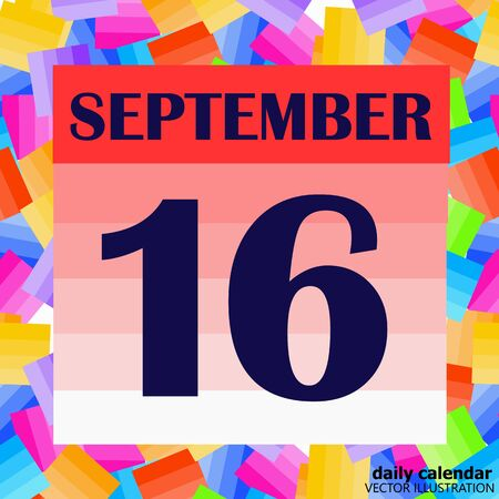 September 16 icon. For planning important day. Banner for holidays and special days. Illustration Stock fotó