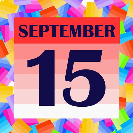 September 15 icon. For planning important day. Banner for holidays and special days. Stock fotó