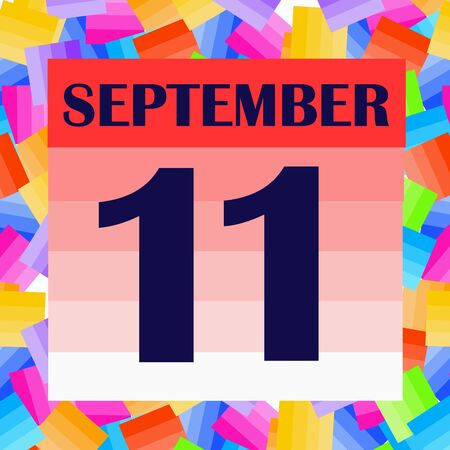 September 11 icon. For planning important day. Banner for holidays and special days. Stock fotó