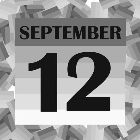 September 12 icon. For planning important day. Banner for holidays and special days. Illusztráció