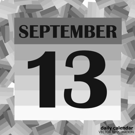September 13 icon. For planning important day. Banner for holidays and special days. Illusztráció