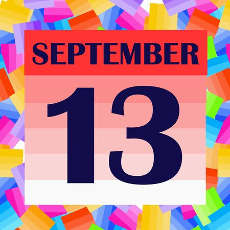September 13 icon. For planning important day. Banner for holidays and special days. Stock fotó