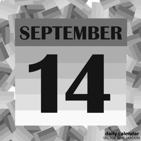 September 14 icon. For planning important day. Banner for holidays and special days. Illusztráció