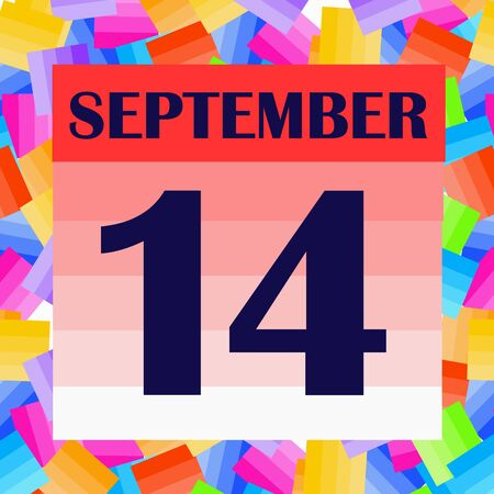 September 14 icon. For planning important day. Banner for holidays and special days. Stock fotó