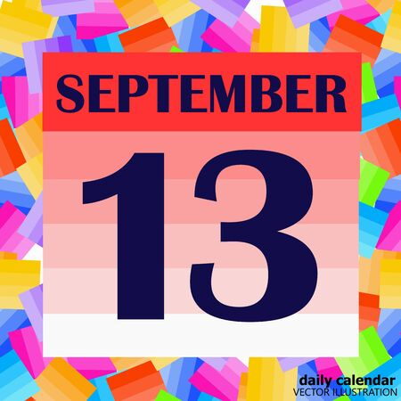 September 13 icon. For planning important day. Banner for holidays and special days. Illustration Stock fotó