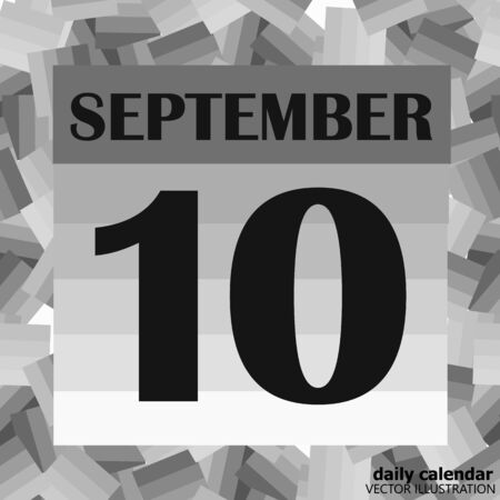 September 10 icon. For planning important day. Banner for holidays and special days.