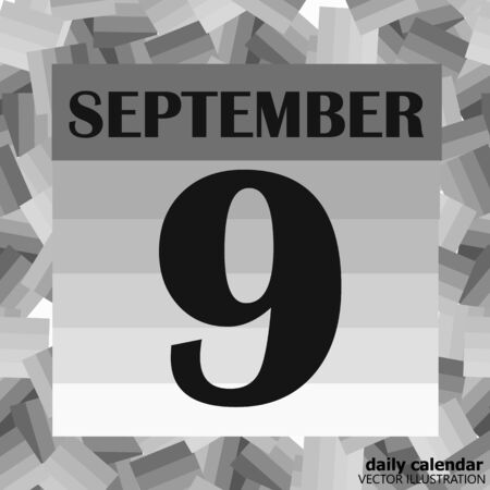 September 9 icon. For planning important day. Banner for holidays and special days. Stock fotó
