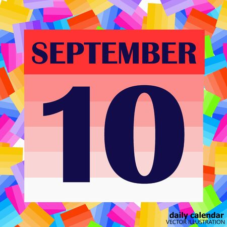 September 10 icon. For planning important day. Banner for holidays and special days. Illustration