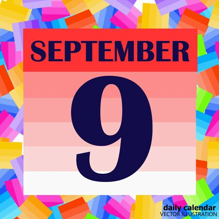 September 9 icon. For planning important day. Banner for holidays and special days. Illustration Stock fotó