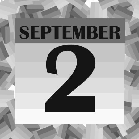 September 2 icon. For planning important day. Banner for holidays and special days. Stock fotó