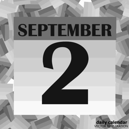 September 2 icon. For planning important day. Banner for holidays and special days. Illusztráció