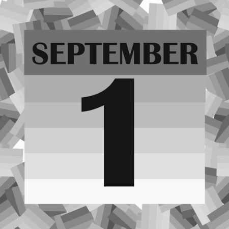 September 1 icon. For planning important day. Banner for holidays and special days.