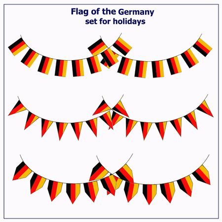 Set with flags Germany.