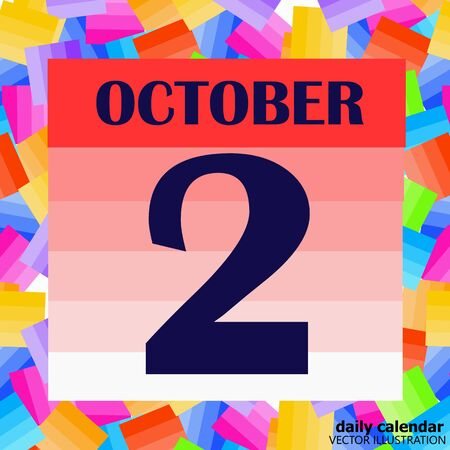 October 2 icon. For planning important day. Vector iIllustration