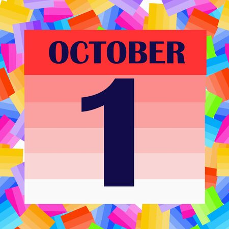 October 1 icon. For planning important day. Banner for holidays and special days. Illustration Stock fotó