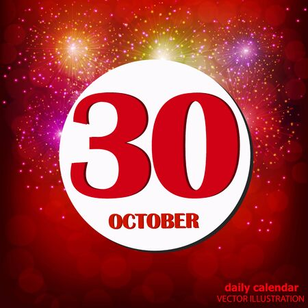 October 30 icon. For planning important day. Vector iIllustration