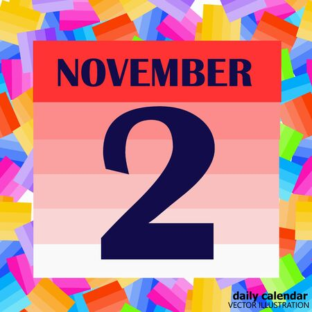 November 2 icon. For planning important day. Banner for holidays and special days. Vector Illustration. Banco de Imagens