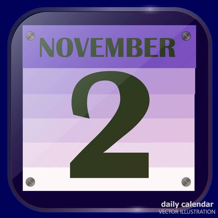 November 2 icon. For planning important day. Banner for holidays and special days. Vector illustration.